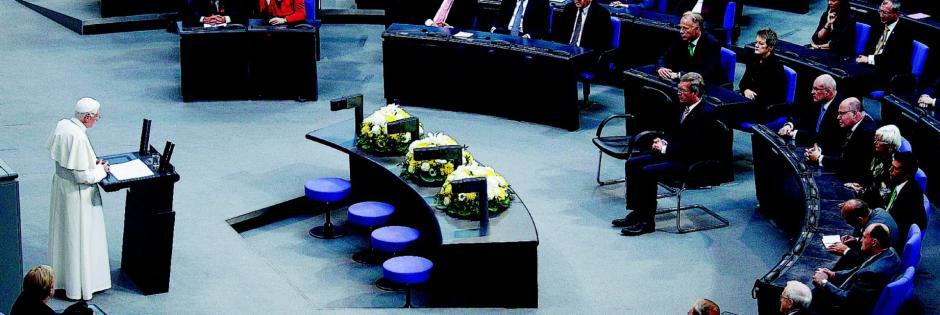 papa Benedetto al Parlamento Europeo