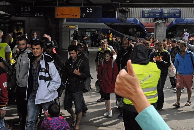 Foto che ritrae migranti